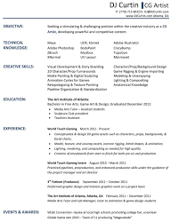 Dj Resume Format Professional Resume Templates