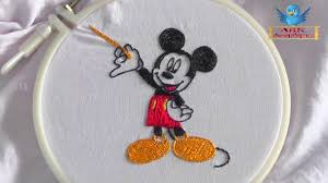 Embroidery Mickey Mouse Design Mickey Mouse Fancy Hand Embroidery Designs Works On Blouses