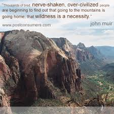 Quotes About Mountains Amazing Favorite John Muir Quotes The Mountains Are Home Postconsumers