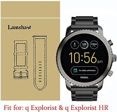 Lamshaw <b>Smartwatch Band for</b> Fossil Q Explorist, Stainless Steel ...