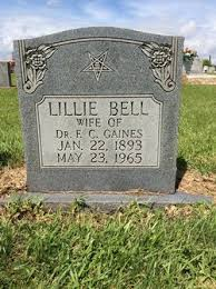 Lillie Bell Hazelwood Gaines (1893-1965) - Find A Grave Memorial