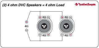quick guide to matching subs amps how to put together the best wire two 4 ohm dvc subs this way add a 2 channel amp and your car will be the temple of boom