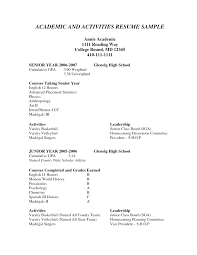 Extracurricular Activities Resume Template High School Meaning In ...