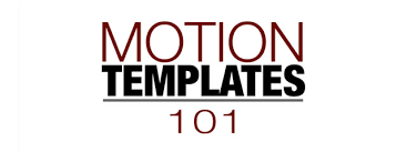 Motion Template Motion Templates 101 Apple Motion Tutorial