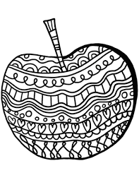 Apple Pattern Beauteous Apple With Pattern Coloring Page Free Printable Coloring Pages