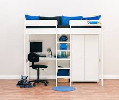 high bed with storage. Brilliant High Uno 7 High Sleeper White With Desk  Wardrobe1  View 2 Intended Bed With Storage O