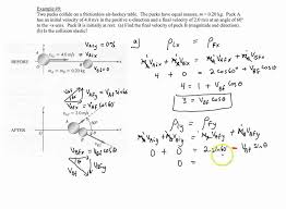 chapter 7 example 9 two dimensional elastic collision of billiard you