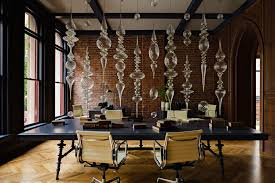 office interior decor. Main Office Is Divided By A Beautiful Glass Sculpture Andy Paiko Interior Decor