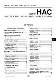 2010 nissan altima heater & air conditioning control system Wiring Diagram 2005 Nissan Altima A C Pressure 2010 nissan altima heater & air conditioning control system (section hac) (164 pages) 2005 Nissan Altima Engine Problems