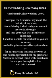 traditional celtic wedding vow 2