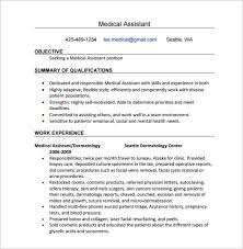 40 Medical Assistant Resume Templates DOC Excel PDF Free Mesmerizing Medical Assistant Summary For Resume