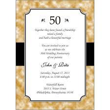 50th wedding anniversary invitation ideas awesome