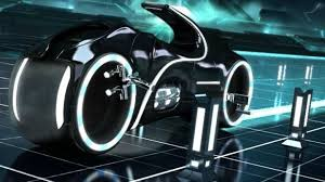 the bike light cycle in tron legacy