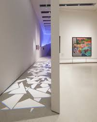italian futurism feels at home in the guggenheim uncube installation view of the exhibition which includes sound and light installations photo