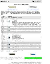 rs eia serial interface pinout diagram ru rs 232 eia 232 serial interface diagram