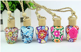 How To Decorate Perfume Bottles Polymer clay essence oil Perfume bottle empty bottle 100 ml Car 61
