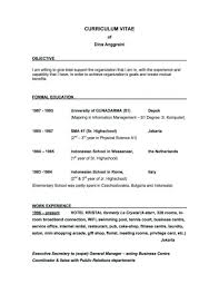 Good Resume Objectives Templates Objective Of Business Development