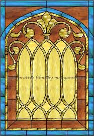 faux stained glass window church images