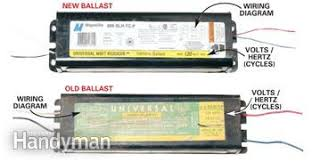 how to replace fluorescent lights ballast family handyman t12 ballast wiring diagram at Wiring Diagram For Fluorescent Ballast
