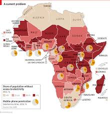 In Much Of Sub Saharan Africa Mobile Phones Are More Common