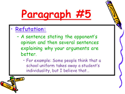 the persuasive essay ppt video online  paragraph 5 refutation