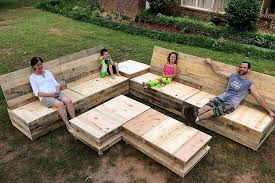 pallet outdoor furniture plans. pallet garden furniture set outdoor plans