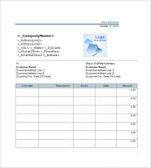 Download Hourly Invoice Template 6 Free Word Excel Pdf Format