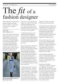 Fit Fashion Design School The Fit Of A Fashion Designer Joeys Portfolio