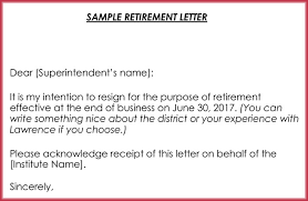 Retirement Letter Samples Examples Formats Writing Guide