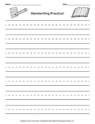 the best handwriting practice ideas handwriting paper template