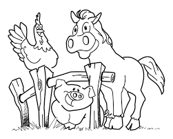 Small Picture Farm animal theme coloring pages are a great way to teach your