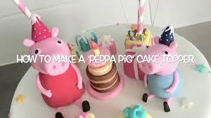 Peppa Pig Cake Topper Tutorial