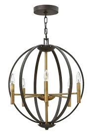 chandeliers hinkley lighting chandelier 6 light 3 4 high bronze harlow