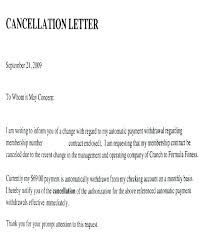 Cancellation Letter Withdrawal Template Daycare Sample Security