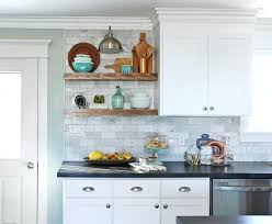 floating wood kitchen shelves white diy how to install over a tile licious wall in