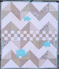Modern Baby Quilt Elephant Baby Quilt Gray Aqua Blue Chevron Zig ... & Modern Baby Quilt Elephant Baby Quilt Gray Aqua Blue Chevron Zig Zag Adamdwight.com