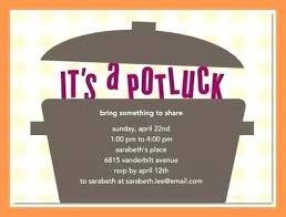 Beautiful Potluck Invitation Templates Ideas Mericahotel
