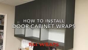 Vinyl Kitchen Cabinet Doors Wrapping A Cabinet Door With 3m Di Noc Vinyl Rmwrapscom Youtube