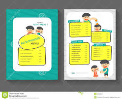 breakfast menu template food breakfast menu layout template a4 flat design set food with