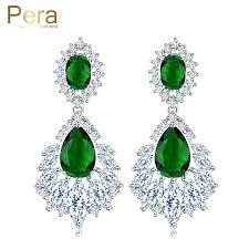 long chandelier earrings rhinestone earrings vintage glass