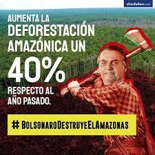 Image result for caricatura bolsonaro destructor de la naturaleza