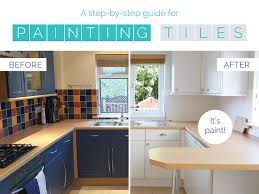 Painting Tiles In The Kitchen Kitchen Makeover On A Budget How To Paint Kitchen Tiles Homemake
