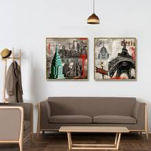 nordic classic building street view art canvas painting posters wall art pictures living room  on wall art canvas for living room with nordic classic building street view art canvas painting posters wall