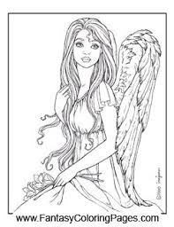 Small Picture 49 best Angels Coloring Sheets images on Pinterest Coloring