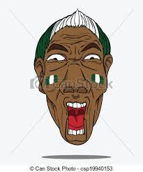 football fan clipart. vector - football fan from nigeria clipart