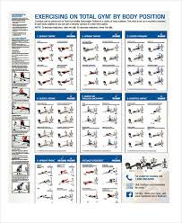 Total Gym Weight Chart Exercise Chart Templates 9 Free Sample Example Format