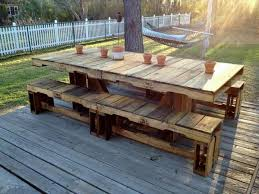 wood pallet patio furniture.  Furniture Pallet Dining Table In Wood Patio Furniture O