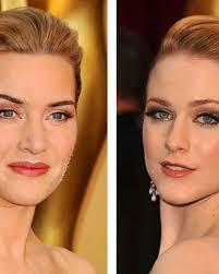 heavy eye makeup adds years kate winslet vs evan rachel wood