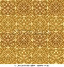 light gold background pattern. Brilliant Pattern Low Contrasting Vintage Ornament Light Yellow Drawing On Golden Background  Repeating Filigree Geometric Patterns In Victorian Style With Light Gold Background Pattern