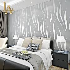 Purple Striped Wallpaper Designs Us 16 5 50 Off Fashion Embossed Flocking 3d Striped Wallpaper For Walls Non Woven Purple Beige Home Background Wall Paper Roll W341 In Wallpapers